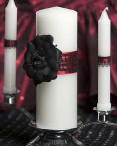 Gothic Romance Wedding Unity Candle Set by weddingcollectibles, $39.95