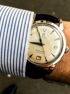 Time to go working… Vintage Omega Seamaster Calendar 2627 - 1952 Mattabisch Napoli shirt