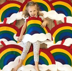 Ready to ship - Childs RAINBOW COSTUME - Halloween ready - Kids halloween costumes - Rainbow Brite - Baby costume - Superkidcapes