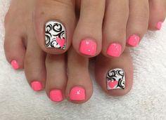 imagenes de uñas decoradas para pies