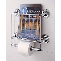 Neu Home Bath Tissue Dispenser Magazine Rack, Chrome  $41.95