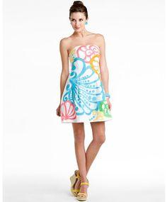 """Lilly Pulitzer """"Blossom"""" resort white chiquita bonita dress"""