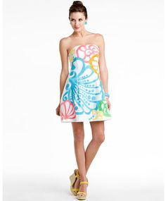 "Lilly Pulitzer ""Blossom"" resort white chiquita bonita dress"
