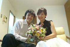 1年目の結婚記念に、奥様へ、花束を