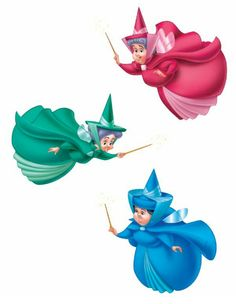 The Three Fairy Godmothers - Flora, Fauna, and Merryweather