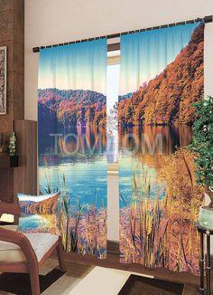 """Комплект штор """"Бирюзовая вода в солнечных лучах"""": купить комплект штор в интернет-магазине ТОМДОМ #томдом #curtains #шторы #interior #дизайнинтерьера"""