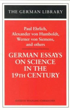 wuo german essays on science in the nineteenth century.