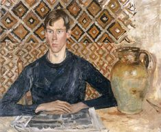 Edwin John - Augustus John, 1927 (or a time-traveling Cumberbatch? Modern Artists, French Artists, Gwen John, Post Impressionism, Art Database, Portrait Art, Male Portraits, Portrait Ideas, Sculpture