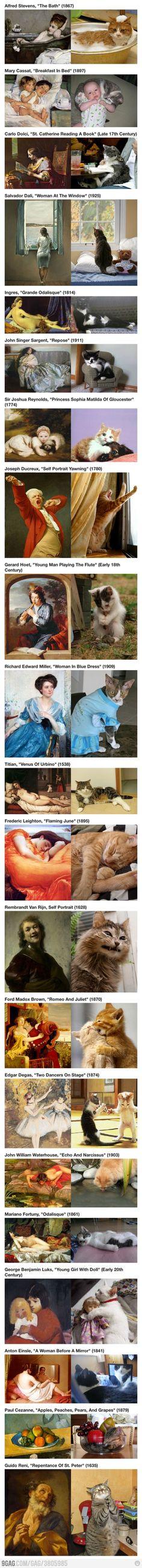 Art Imitating Cats