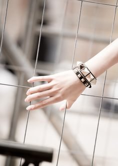 Valentino 'Rockstud' bracelets Candy Jewelry, I Love Jewelry, Valentino Bags, Valentino Rockstud, Kate Moss Hair, Rock Style, My Style, Big Blonde Hair, Glitz And Glam