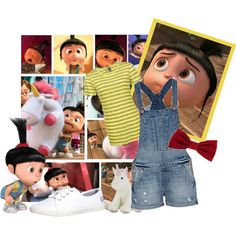 """Agnes (Despicable Me)"" by marly19 on Polyvore.  I want to dress up as Agnes for a day."