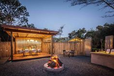Guests can now enjoy dining under the stars in the stunning new boma area at Makakatana Bay Lodge. (iSimangaliso, South Africa)