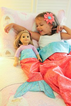 Mermaid Tail Blanket Tutorial - Discount Designer Fabric - Fabric.com