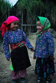Vietnam  Sisters or Friends?  Either way, they are so cute and haven't we all had moments like this with our best buddies.