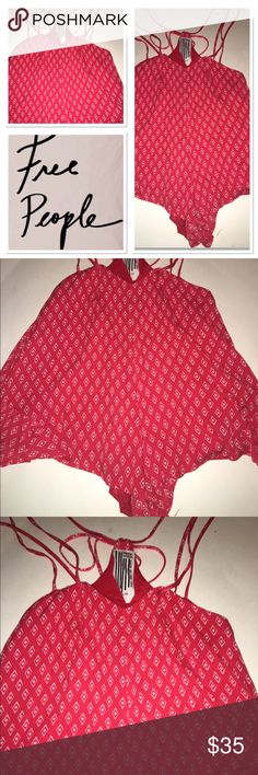 NWOT super short red romper Brand new size XS spaghetti strapped sexy red romper Free People Other