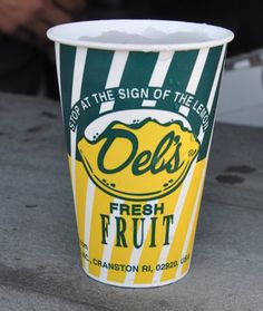Pin for Later: Enticing Edible Souvenirs From Every State in the USA Rhode Island: Del's Lemonade The slushy, icy drink known as Del's is everywhere in Rhode Island. Re-create the experience at home with a bucket of