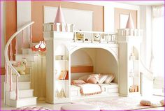 kids castle bed kids castle bed with slide home improvement wilson quotes Bunk Bed With Slide, Bunk Beds With Stairs, Bedroom Bed, Girls Bedroom, Home Decor Bedroom, Bedroom Ideas, Room Decor, Wall Decor, Cool Bunk Beds