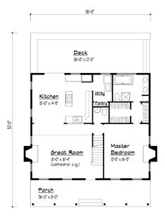 First Floor Plan of Country   House Plan 41021
