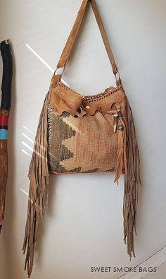 d2744047af Camel sand light brown southwestern western hobo navajo navaho tribal indian  cowgirl southwest leather antique kilim maian bag swoolen