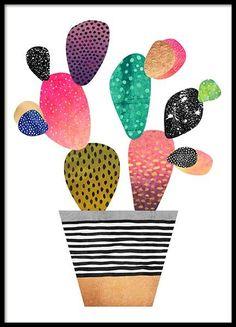 Happy Cactus Poster in der Gruppe Poster / Größen und Formate / 50x70cm bei Desenio AB (2380)