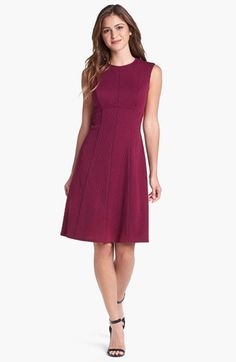 Adrianna Papell Jacquard Empire Waist Fit & Flare Dress available at #Nordstrom