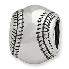Reflection Beads Sterling Silver Baseball Bead
