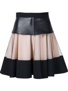 David Koma многослойная юбка А-образного кроя
