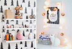 adorable shelf & wall paper