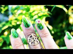 Grass Nail Art Manicure Tutorial