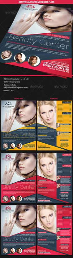 Beauty Center Spa Business Flyer