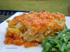 Gourmet Girl Cooks: Sunday's Chicken and Yellow Cheddar Squash Casserole