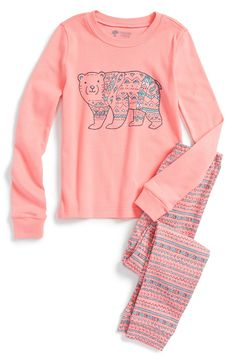 Tucker + Tate Two-Piece Fitted Pajamas (Toddler Girls, Little Girls & Big Girls)
