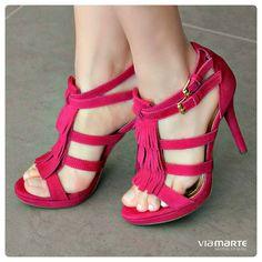 heels - salto alto - franjas - pink - Ref. 14-15909 - Verão 2015