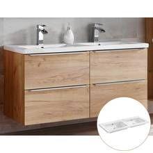 Badmobel Set Mit Keramik Aufsatzwaschbecken Toskana 56 Wotaneiche Hoch In 2020 Doppelwaschtisch Keramik Waschbecken Badezimmer Ablage
