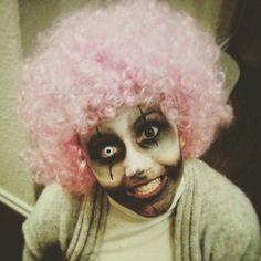 Creepy clown for halloween