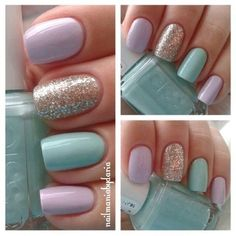 Pastel Nails with Sparkle Accent Nail! 🙂 Pastel Nails with Sparkle Accent Nail! 🙂 Pastel Nails with Sparkle Accent Nail! Spring Nail Art, Nail Designs Spring, Spring Nails, Nail Art Designs, Nails Design, Summer Nails, Easter Nail Designs, Fancy Nails, Trendy Nails