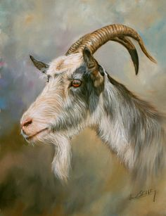 Goat painting by David Stribbling