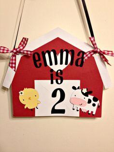 Farm Animal Happy Birthday Banner Primary Colors Barnyard birthday banner. $30.00, via Etsy.