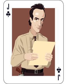Andy Brennan - the Jack of Clubs. Illustration by Lenike Sundström.