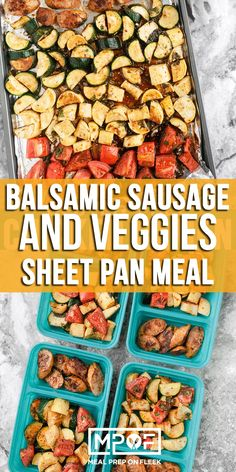 You're sure to have this Balsamic Sausage and Veggies Meal Prep recipe on repeat thanks to the delicious combo of Italian sausage and veggies in a simply made marinade! As a bonus, it's also SO simple to make!