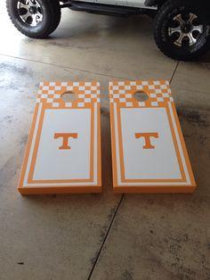 """Tennessee"" cornhole board"