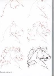 Animal Drawings How-To-Draw-Horses - ~*Horse Heaven*~: - Drawing Skills, Drawing Lessons, Drawing Techniques, Drawing Sketches, Sketching, Drawing Poses, Horse Drawings, Animal Drawings, Art Drawings