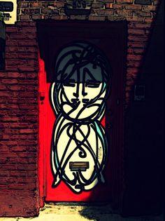 New York doorway manhattan. Graffiti | street art