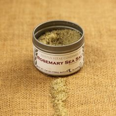 The wonderful smell of rosemary and sharp, refreshing 'straight-from-the-herb-garden' flavor define this Rosemary Sea Salt. It's wonderful as a finishing salt, sprinkled on just before serving to add