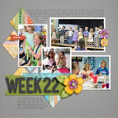 Daily Life Week 22 Daily Life Templates 6 by Scrapping with Liz Everyday Snippets Issue #3 by Creatwings Designs