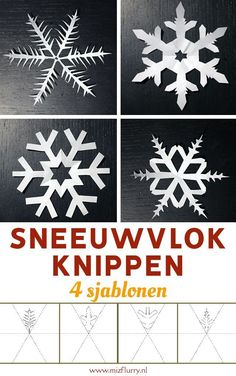 Templates to cut snowflakes # Christmas knutselen children Snowflake cut . - Templates to cut snowflakes Snowflake cut. Cut 4 free templates for sno - Christmas Crafts, Christmas Decorations, Xmas, Diy Crafts To Do, Crafts For Kids, Winter Instagram, Hello Winter, Diy Artwork, Christmas Templates