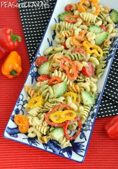 Confetti Pasta Salad | Peas and Crayons: Confetti Pasta Salad -- Looks like a party on a plate!