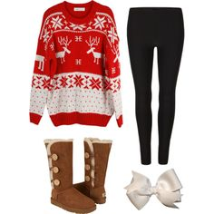 """Tacky Christmas Sweater Party!"" by classically-preppy on Polyvore"