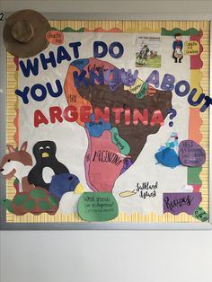 CI 361 Argentina Bulletin Board Argentina Flag, Student Teaching, Bulletin Boards, Classroom Ideas, Projects To Try, Education, Display Boards, Classroom Setup, Teaching
