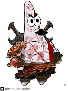 Kratos the Star #Spongebob x #GodofWar